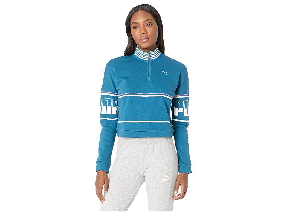 PUMA Rebel 1/2 Zip Turtleneck (Corsair) Women