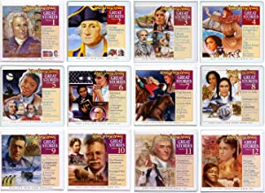Great Stories Audio CD Albums #1 - #12 - Stories include George Washington, Thomas Jefferson, Theodore Roosevelt, Ernest Shackleton, Sojourner Truth, Robert E. Lee, Fanny Crosby, Johann Sebastian Bach, Henry Ford and So Many More