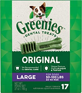 GREENIES Original Large Dog Natural Dental Treats - 27 Ounces 17 Treats