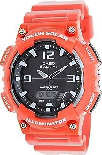 Casio #AQ-S810WC-4AV Men's Red Solar Analog Digital World Time Sports Watch