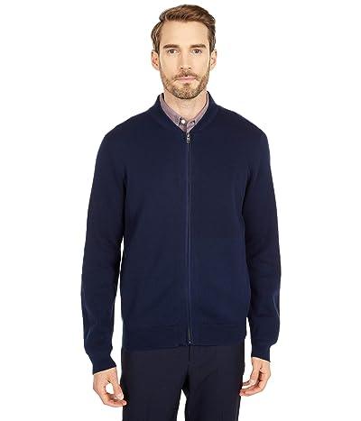 Dockers Full Zip Bomber Sweater Jacket (Pembroke) Men