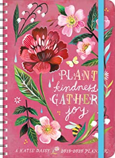 "Katie Daisy 2020 On-the-Go Weekly Planner: 17-Month Calendar with Pocket (Aug 2019 - Dec 2020, 5"" x 7"" closed)"