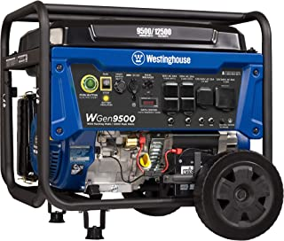 Westinghouse Outdoor Power Equipment WGen9500 Heavy Duty Portable Generator 9500 Rated..