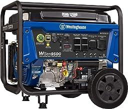 Westinghouse WGen9500 Heavy Duty Portable Generator - 9500 Rated Watts & 12500 Peak Watts - Gas Powered - Electric Start -...