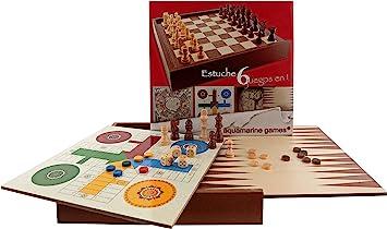Oferta amazon: Aquamarine Games - 6 Juegos clásicos: ajedrez, Damas, Backgammon, oca, parchís, Escalera (CP030)