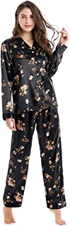 Tony & Candice Women's Classic Satin Pajama Set Sleepwear Loungewear