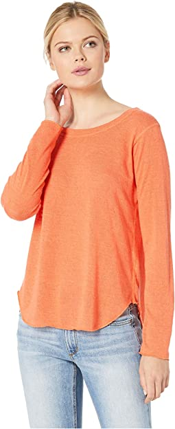 Long Sleeve Rounded Hem Top