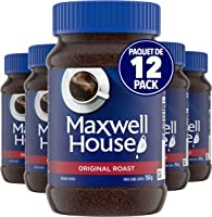 Maxwell House Original Roast Instant Coffee, 150g (Pack of 12)
