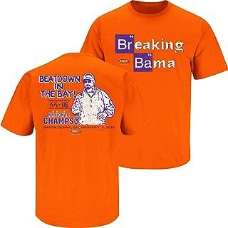 Smack Apparel Clemson Football Fans. Breaking Bama 2018 Orange T-Shirt (Sm-5X)
