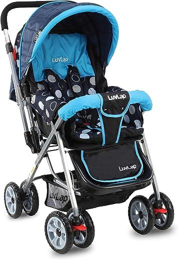 LuvLap Sunshine Stroller/Pram, Easy Fold, for Newborn Baby/Kids, 0-3 Years (Sky Blue) 1