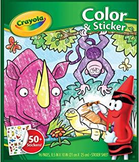 Crayola Colour and Sticker Animals, Multi-Colour, Cy04-0216