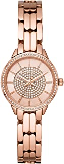 Michael Kors Allie Women's Rose Gold Dial Stainless Steel Analog Watch - MK4413