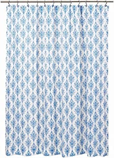 VHC Brands Coastal Bath - Laguna White Shower Curtain, 72 x 72,