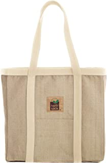 Herbsack Linda Organic Hemp Canvas Tote Bag Heavy Duty Extra Large