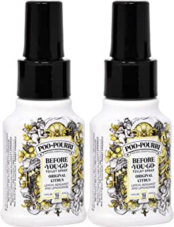 Poo-Pourri Before-You-Go Toilet Spray Bottle, 1.4 oz, Original Scent, 2 Count