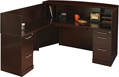 Mayline Sorrento Series Reception Stations/Occasional Tables (Reception Desk with Veneer Counter),