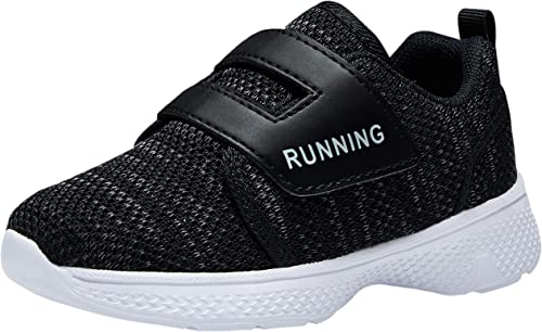 adituo Toddler/Little Kid Boys Girls Lightweight Breathable Sneakers Strap Athletic Runing Walking Sports Shoes
