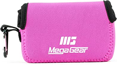MegaGear MG1248 Canon PowerShot SX740 HS, SX730 HS, SX720 HS, SX710 HS, G16, G15 Ultra Light Neoprene Camera Case - Hot Pink