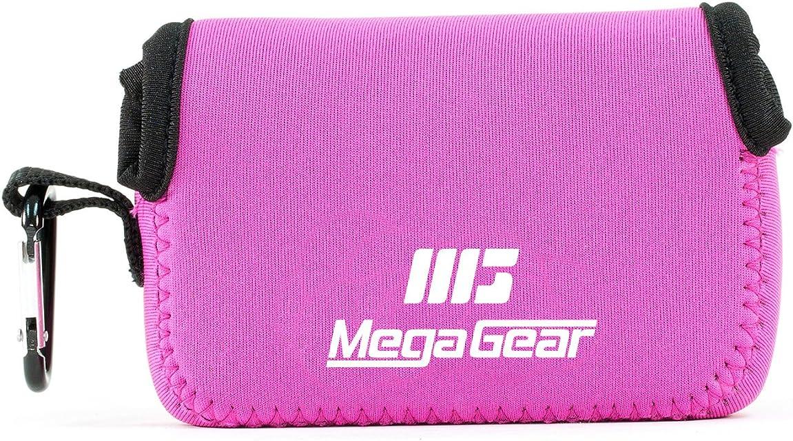 MegaGear MG1248 Para Canon PowerShot SX740 HS SX730 HS SX720 HS SX710 HS G16 G15 Estuche de cámara ultra ligero de neopreno - Rosado