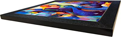Sehaz Artworks 'Peacock' Wall Photo Painting (Carbon Fiber, 30 cm x 30 cm x 3 cm, Black)
