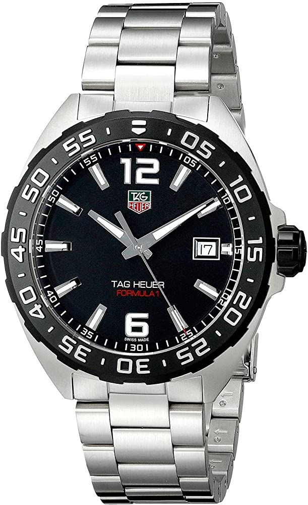 Tag heuer orologio da polso, cinturino in acciaio inox WAZ1110.BA0875