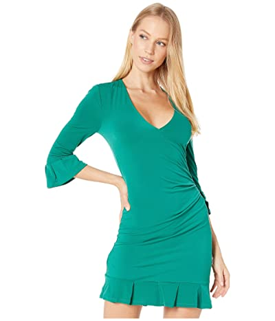 BCBGeneration Day Long Sleeve Knit Dress (Pine Green) Women