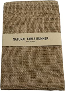 Kel-Toy Burlap Jute Table Runner/Fold and Sew Edge, 14 by 72-Inch, Natural