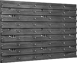 Opslagsysteem wandrek | 576 x 390 mm | Stapelboxen Schuiprek Visopslagbakken | Extra sterke wandplaten | Uitbreidbaar rek...
