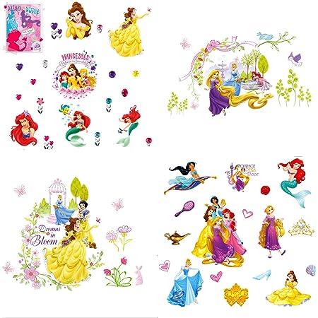 Wandsticker Kinderzimmer Disney Princess Prinzessin Wandtattoo Kinder  Messlatte