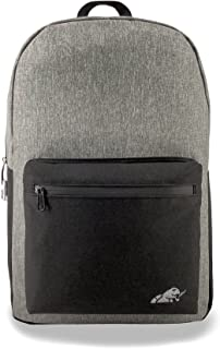 Smoking Turtle: Smell Proof Backpack, Combo Lock, Weather Resistant Grey & Black