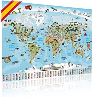 GOODS+GADGETS Mapa Mundial Pa