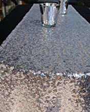 YZEO Green 12X108-Inch Sequin Table Runners for Wedding Party,Table linen,30 275cm Shimmer Tablerunner