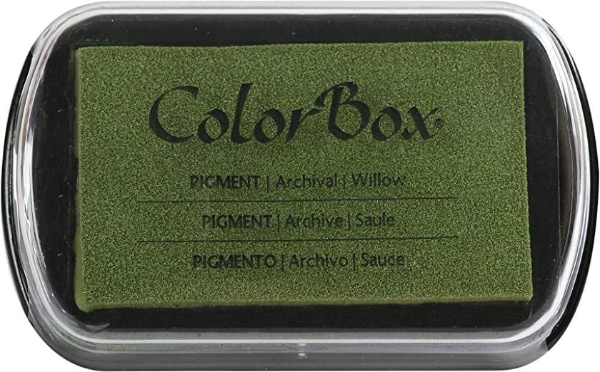 ColorBox Pigment Metallic inkpad 4 2.5-inch Ink Pad, Willows, 4