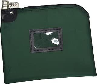 Locking Money Bag Laminated Nylon Combination Keyed Security System (Forest Green)