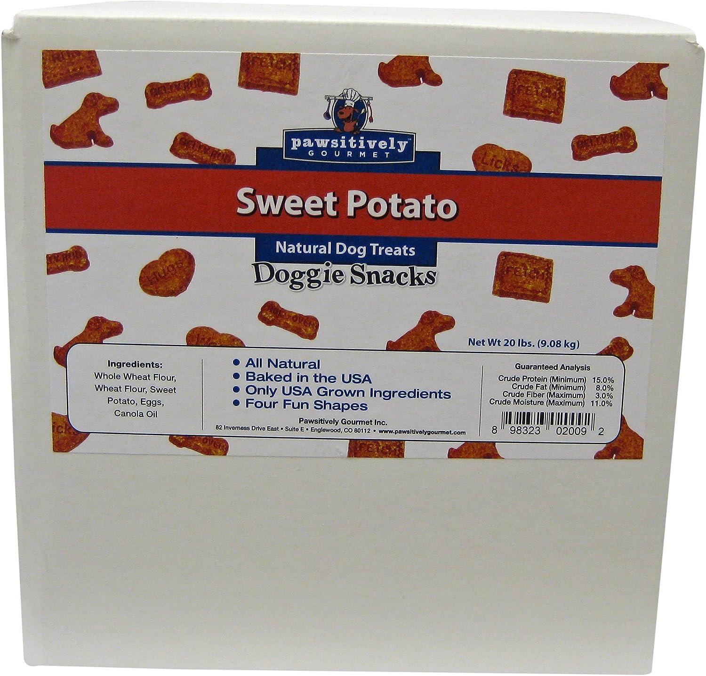 PAWSITIVY GOURMET Sweet Potato Doggie Snacks, 20Pound