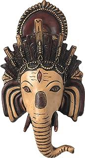Srawen Handcarved Ganesh Head Statue 12 Inches Ganesha Wall Hanging mask