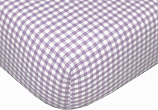 Tadpoles Classic Gingham Fitted Sheets - Set/2 - Lavender