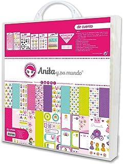 Anita y Su Mundo Collection De Cuento Kit mallette Scrapbooking (papier, autocollants, tôles, Brads Epoxy, timbres, abécéd...
