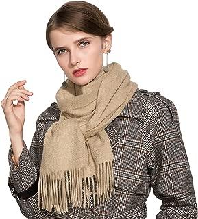 Ellettee, 100% 100% Cashmere Scarf for Men and Women Classic Premium Shawl Luxurious Elegant Solid Color Wrap Art, Oblong