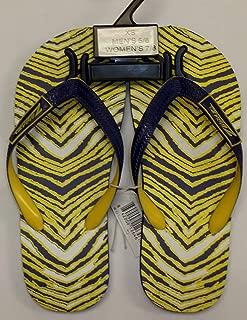 Flip Flops - (Purple/Gold) - Size X-Small, Men's 5/6, Women's 7/8
