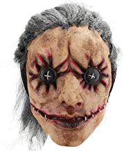 Hautton Máscara de Halloween para Adulto, Máscara Espeluznante Látex, Mascarilla Cubrecabezas Completa Incluye Cabello Posterior, Ojo de Botón para Fiesta de Disfraces