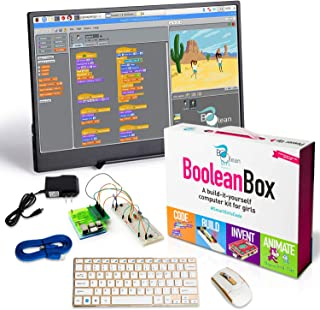 Boolean Box Plus. A Build it Yourself Computer Science kit. Complete with 13 inch Monitor. Designed by Girls for All Kids Interested in STEM Play.