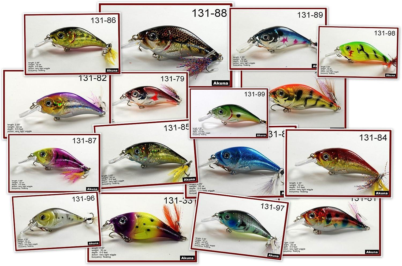 Akuna Pack AL完売しました 海外並行輸入正規品 of 16 Glittertail Series Fishin Shallow inch 3 Diving