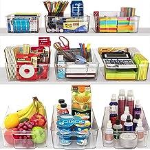 Plastic Storage Bins for Pantry (2)
