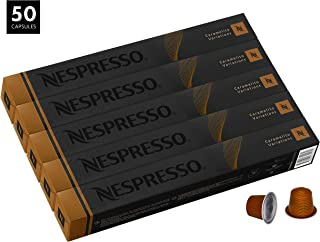 Nespresso Caramelito OriginalLine Capsules, 50 Count Espresso Pods, Medium Roast Intensity 6 Blend, South & Central American Arabica Coffee Flavors