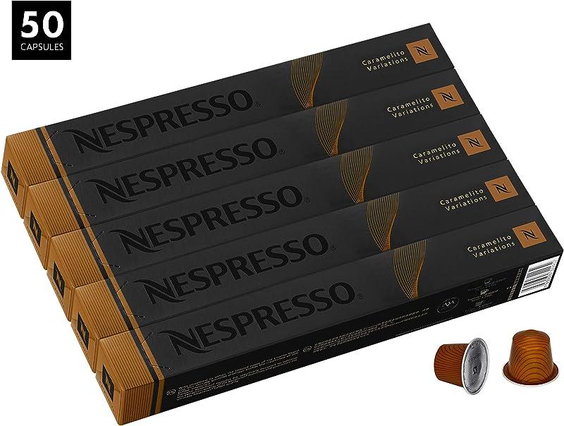 Nespresso OriginalLine Caramelito 50 Pods NOT Compatible With Vertuoline