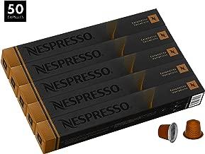 Nespresso Caramelito OriginalLine Capsules, 50 Count Espresso Pods, Medium Roast Intensity 6 Blend, South & Central American Arabica Coffee Flavors