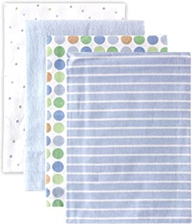 Luvable Friends Unisex Baby Cotton Flannel Receiving Blankets, Blue, One Size