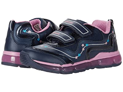 Geox Kids Android 31 (Toddler/Little Kid) (Navy/Dark Pink) Girl