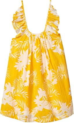 Mini Me Wild Tropic Frill Dress (Toddler/Little Kids)